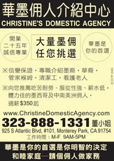yellow pages ad for christines domestic agency